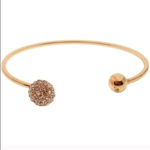 GOLD Pave Czech Crystal Circle Cuff