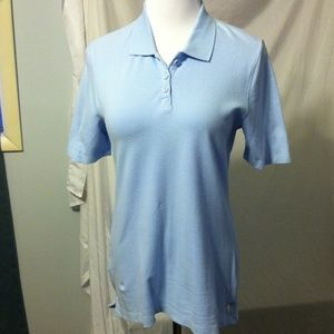 White Stag Tops - White stag pale blue polo shirt