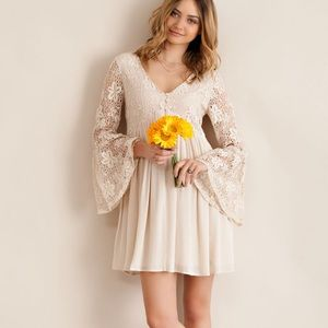 """Scheherazade"" Lace Bell Sleeve Dress"
