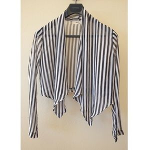 Sheer Striped Cover Up
