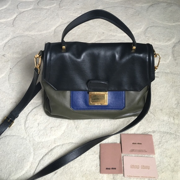 3532c627fdcd Miu Miu Leather Satchel - New with Tags!