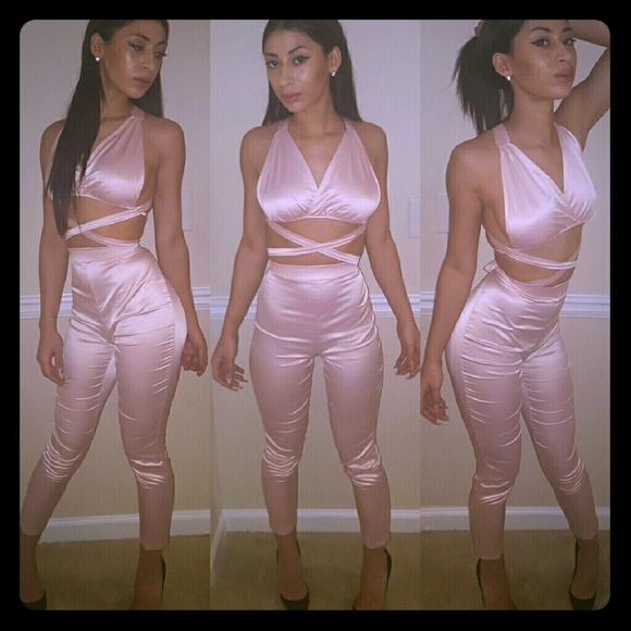 Pants - 2 piece pink sey