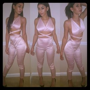 Pants - 2 piece pink sey
