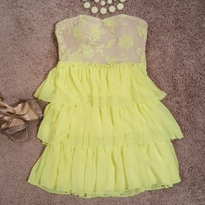 City Triangles Dresses & Skirts - Perfect Neon Yellow Party Dress