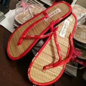 c658c7c47 LA Beauty Shoes - Ladies Bamboo Tatami Flip flops