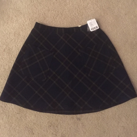 38942bdc60 Urban Outfitters Skirts | Super Cute Navy Blue Plaid Skirt | Poshmark