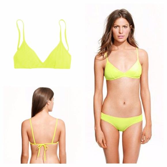 7f7209b22a J. Crew Other - J. Crew French Neon Bikini Top