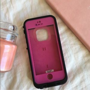 Pink LifeProof 5/5s iPhone Case