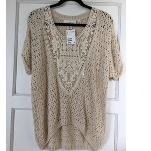 Brand new H&M crocheted tunic blouse