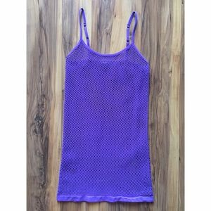 Purple fishnet mini dress 