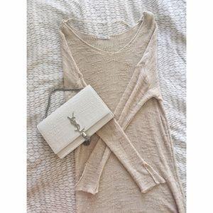 Zara Knit Blush Pink Long Sweater