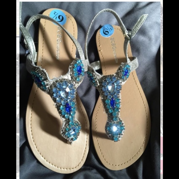 fb33adaa3 New BCBGENERATION Baily Jeweled Sandals size 10
