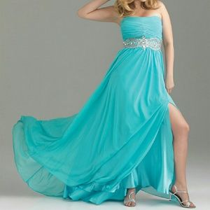 Night Moves Dresses & Skirts - Turquoise Formal Dress