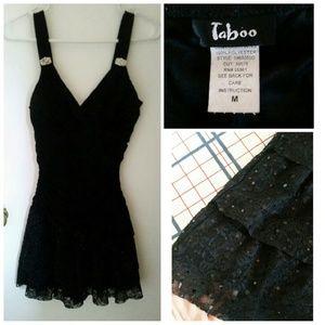 Taboo Dresses & Skirts - Black Lace Hem Prom / Formal Dress