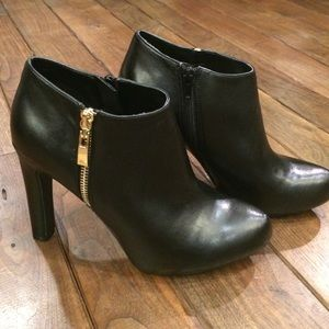 Mark Fisher black leather booties
