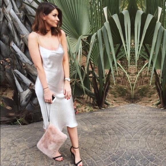 d30167b0 Zara Dresses | Studio Collection Silver Slip Dress | Poshmark