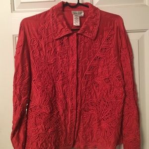 Coldwater Creek embroidered jacket