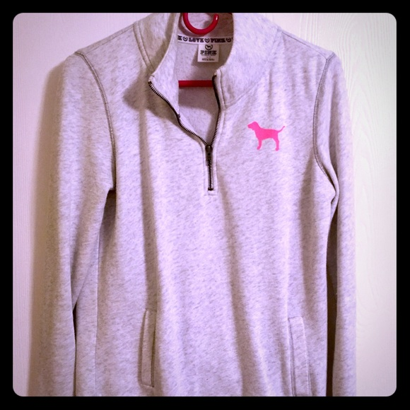 67% off PINK Victoria's Secret Tops - PINK fleece sweater with ...