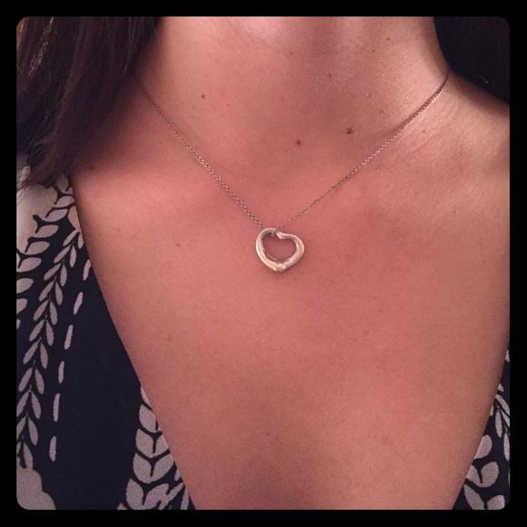 Tiffany Co Jewelry Tiffany Co Open Heart Necklace Poshmark