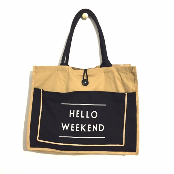 Hello Weekend tote bag OS from Priscilla's closet on Poshmark