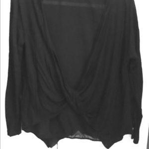 Zara long sleeve black top