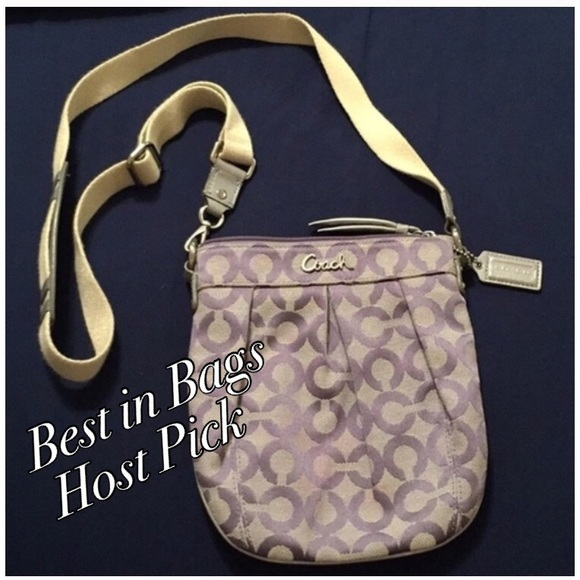 Coach Handbags - 🎉HP🎉 Coach OP Art purple crossbody purse ab56c5411e084