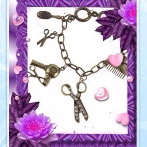 Jewelry - ✂️HAIRSTYLIST HAIRDRESSER 7 CHARMS ANTIKE BRACELET