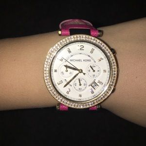 Michael Kors Saffiano Leather Watch