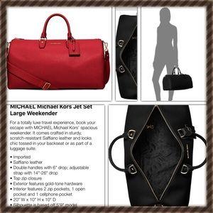 f4ee8376609f MICHAEL Michael Kors Bags - Authentic ❤️Micheal kors jet set large weekender 👜
