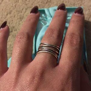 81b6c645b Tiffany & Co. Jewelry | Tiffany Co Wave Five Row Ring | Poshmark