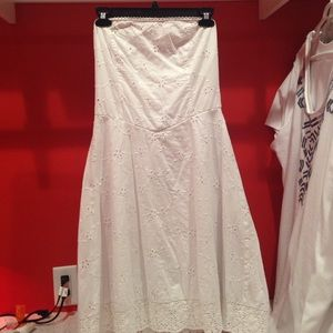 Ruby Rox Dresses & Skirts - Summer Sale! Ruby Rox White Strapless Eyelet Dress