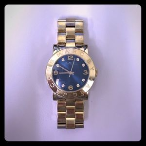 Gold/blue Marc Jacobs watch
