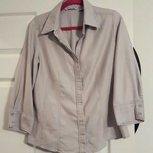 Larry Levine Other - Silver button up shirt