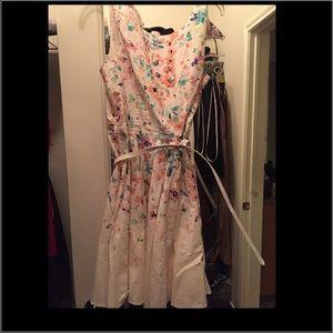 LC (Lauren Conrad) Floral fit flare dress