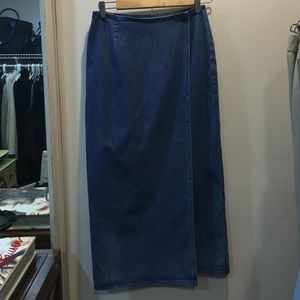 Ralph Lauren wrap denim skirt