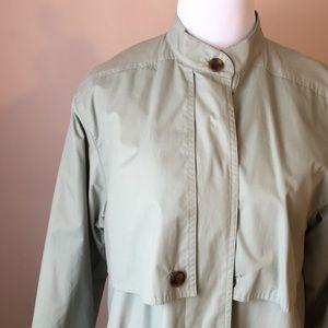 Pale green raincoat