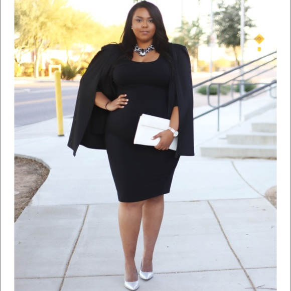 Jackets & Blazers - Plus size Black Cape Blazer II