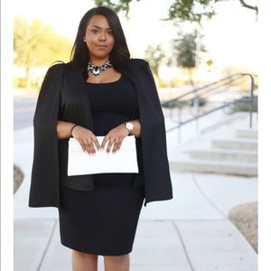 Jackets & Coats - Plus size Black Cape Blazer II
