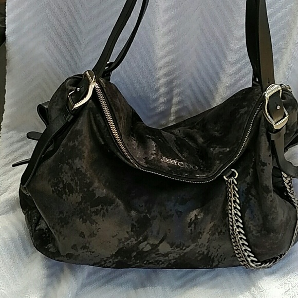 69e5ac2eb81c Jimmy Choo Handbags - REDUCED! Jimmy Choo Blake Biker hobo handbag