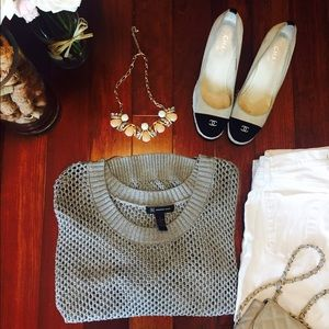 Shimmery INC gray sweater size S/M