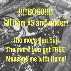 Other - BOGO!!! Items $5 and Under