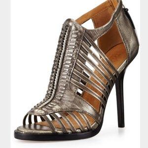 NWOT LAMB Kamy Metallic Sandal, Gunmetal