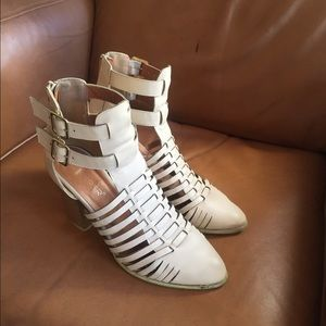 Shoes - Nude Sandal Booties