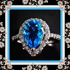 Jewelry - 🌺🌴🌺  NWOT:  AQUA TOPAZ GEMSTONE RING. 🌺🌴🌺