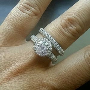 jcpenney jewelry just in bridal set sterling silver diamondart - Jcpenney Wedding Ring Sets