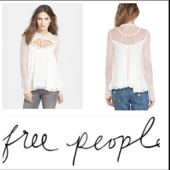de3a23e0446eb3 Host Pick! FREE PEOPLE Black Magic Cutout Blouse