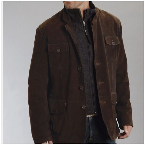 68 Off Gap Other Gap Mens Brown Suede Shirt Jacket M