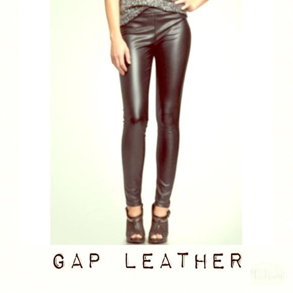 48% off GAP Pants - NWT GAP pull-on vegan leather leggings from ...