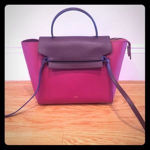 HP {Celine} Mini Belt Bag in Burgundy