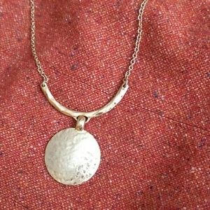 Lia Sophia Jewelry - Lia Sophia hammered gold disc necklace